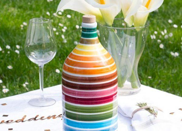 """Vente d'huile d'olive d'exception """"Frantoio Muraglia"""", dans leur joli flacon de céramique, idéale pour un cadeau"""
