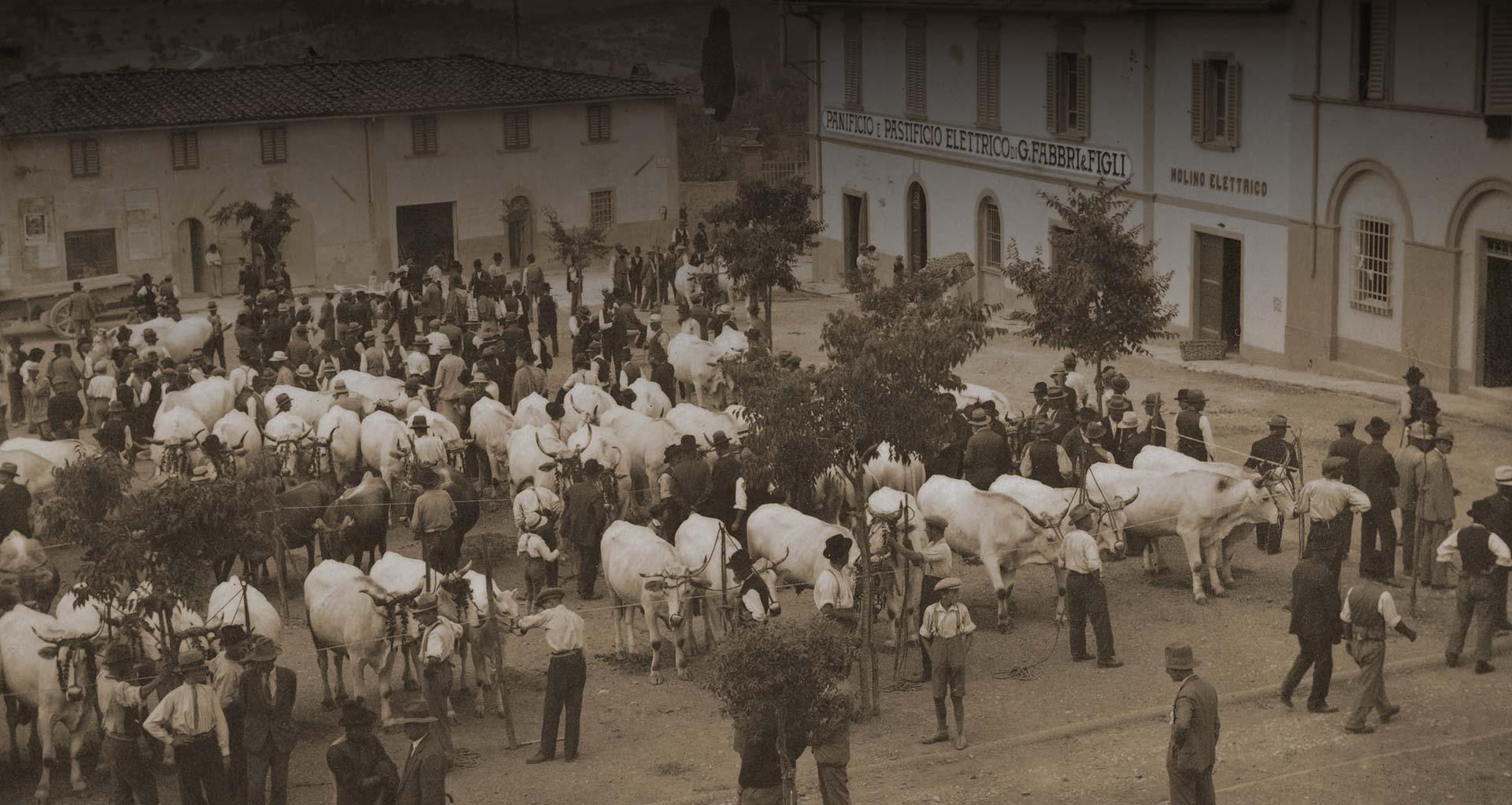 Ancienne fabrique à pâtes sèches en Italie (pastificio)