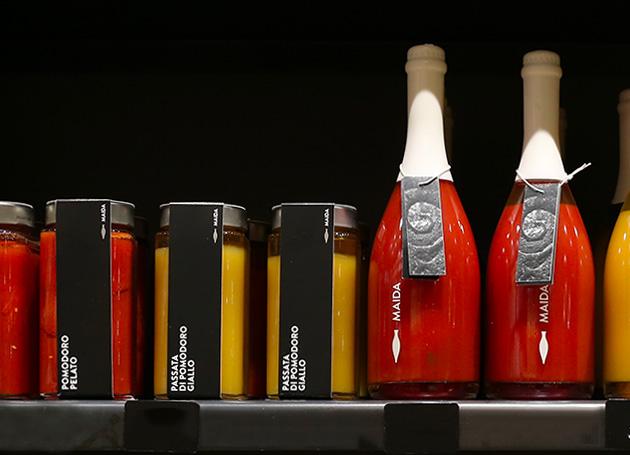"""Vente de sauces italiennes """"Maida"""" dans la boutique les bonnes pâtes"""