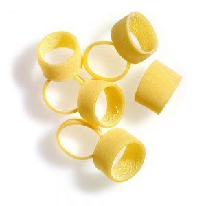 Comme des anneaux de calamar, ces pâtes rondes de Benedetto Cavalieri sont top.