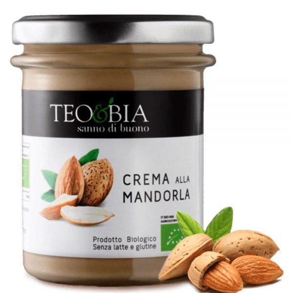 Merveilleuse crème d'amandes bio de Téo et Bia proposée par la boutique de produits italiens Les Bonnes Pâtes