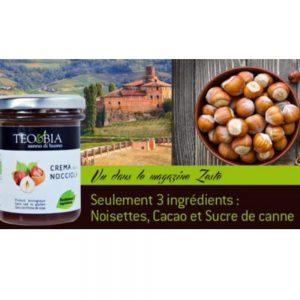 On trouve dans cette épicerie fine italienne des produits du Piémont comme cette pâte à tartiner bio Téo & Bia