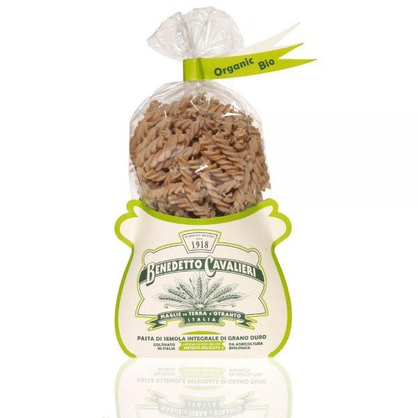 Fusilli bio au blé intégral par Benedetto Cavaieri des Pouilles, producteur des Pouilles sélectionné par la boutique de Rennes Les Bonnes Pâtes.