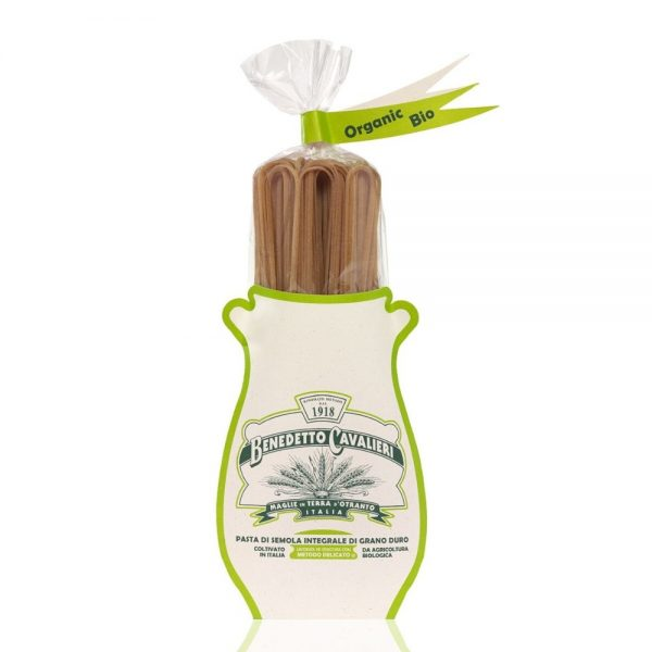 Linguine au blé bio complet de Bénédetto Cavalieri des Pouilles