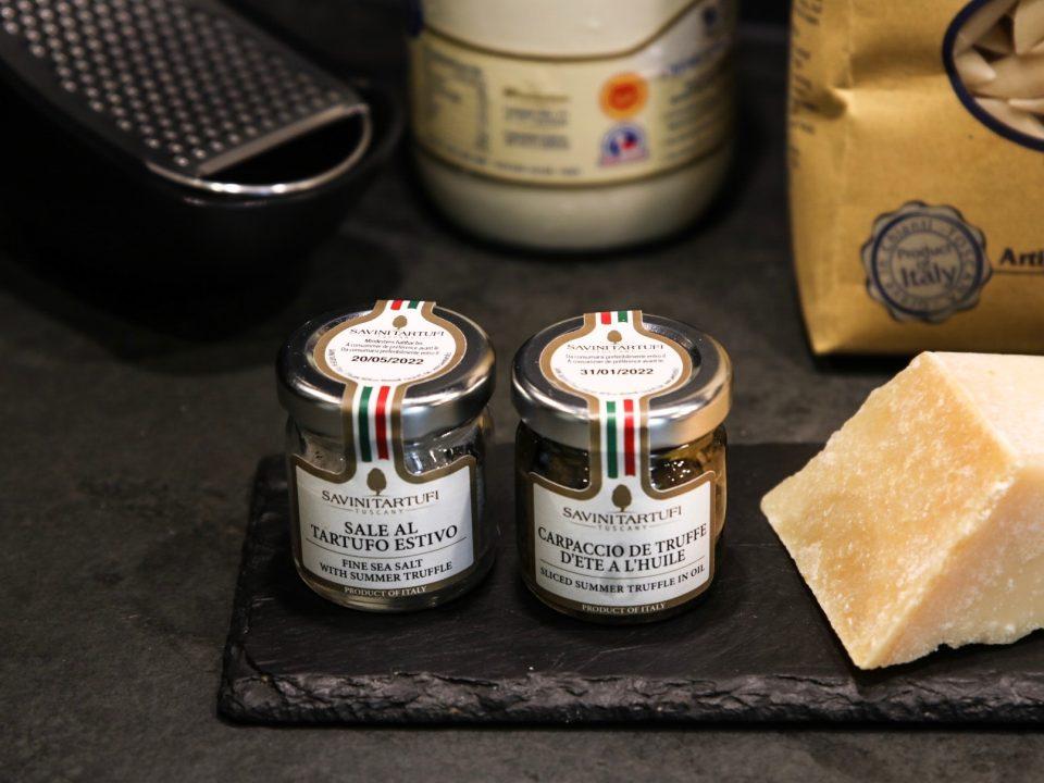 Produits à la truffe de Savini Taruffi dans cette recette de pâtes