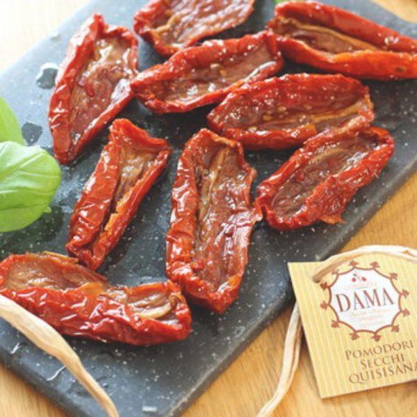 Délicieuses tomates séchées dans l'huile de tournesol par la productrice Dama de Campanie