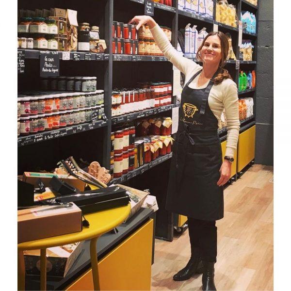 Céline est la fondatrice de la boutique de produits italiens Les Bonnes Pâtes à Rennes.