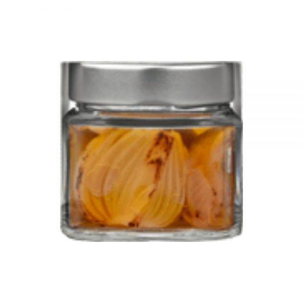Oignons cuivrés de Montoro dans l'huile d'olive par le producteur de Campanie Maïda, dans la boutique rennaise Les Bonnes Pâtes