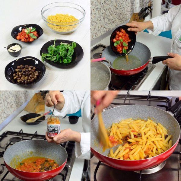 Ingrédients et recette des penne au pesto de Calabre