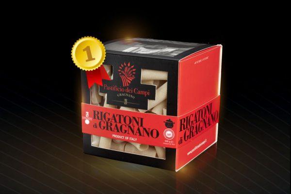 Rigatoni du producteur Pastificio dei Campi de Gragnano boite rouge
