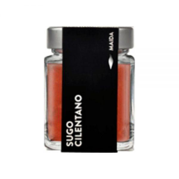 Sauce avec des tomates 100% italiennes, ail par Maïda producteur de Campanie.