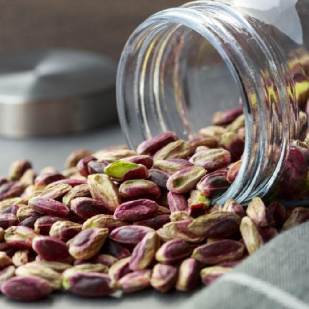Aiu moins 50% de pistaches italiennes dans cette creème de pistache 100% biologique du producteur Teo E Bia en vente dans la boutique en ligne Les Bonnes Pâtes