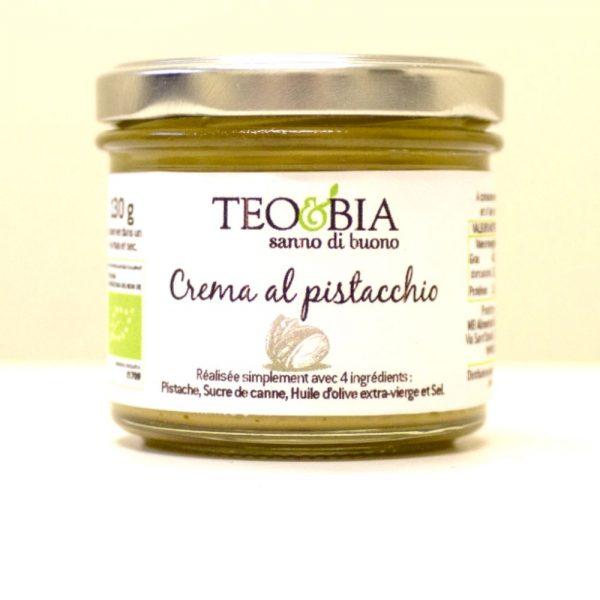 Crème de pistaches 100% biologique de Teo e Bia du Piémont à retrouver à Rennes dans la boutique Les Bonnes Pâtes