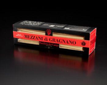 Mezzani di Gragnano, pâte en forme de paille ou gros tube, par le producteur Pastificio dei Campi.