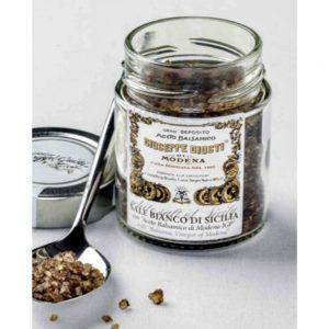 Idée cadeau pour amoureux de l'Italie, du sel au vinaigre balsamique IGP de Modène de l'acetaia Giusti créée