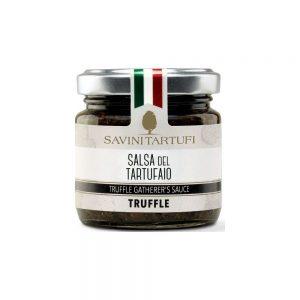 Sauce aux champignons et à la truffe pour accompagner les bonnes pâtes de la boutique.