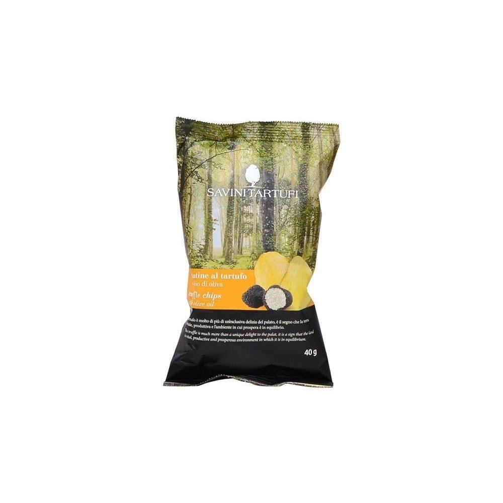 Ces petites chips à la truffe de Savini Tartufi sont un régal pour agrémenter vos apéritifs!