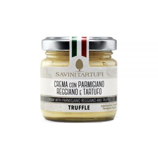 Crème de parmesan à la truffe, idéale pour accompagner les bonnes pâtes de la boutique rennaise.