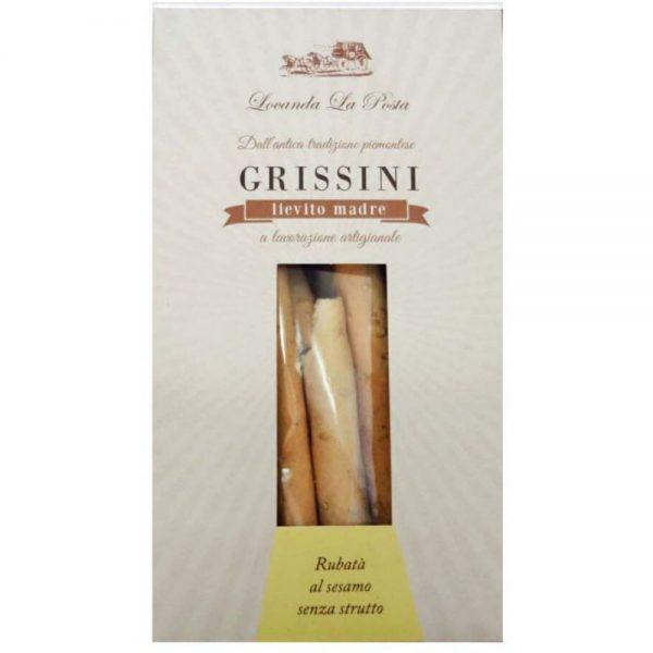 Petits gressins au sémame de Locanda La Posta pour un apéritif italien idéal, à retrouver aussi à la boutique Les Bonnes Pâtes.