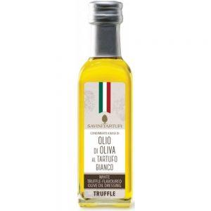 Huile d'olive à la truffe Savini Tartufi est idéale pour aromatiser vos pâtes artisanales ou risotto de la boutique Les Bonnes Pâtes.
