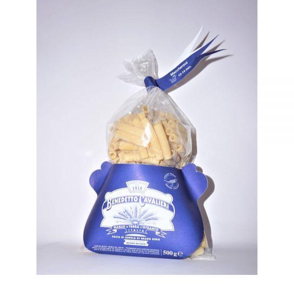 Pâtes artisanales Maccheroni du producteur italien des Pouilles Benedetto Cavalieri, en vente dans la boutique Les Bonnes Pâtes