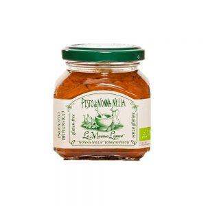 La boutique Les Bonnes Pâtes propose aussi un pesto de tomates fraîches, produit biologique de La Macina Ligure