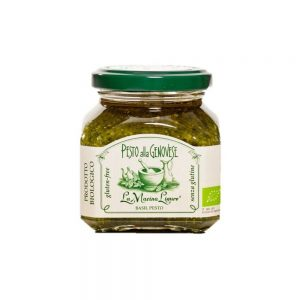 La boutique Les Bonnes Pâtes propose aussi un pesto basilic alla Genovese, bio et sans lactose de La Macina Ligure
