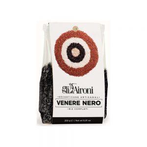 Riz italien noir venere nero Gli Aironi parfait pour le risotto en accompagnement de fruits de mer.