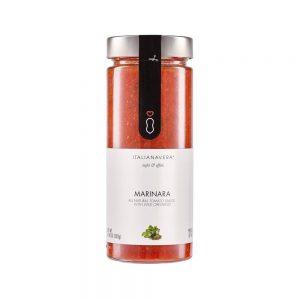 Marinara de Italianavera est une sauce tomate naturelle sans conservateurs et sans sucres ajoutés à l'ail et à l'origan sauvage.