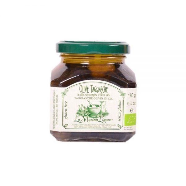 Les petites olives bio Taggiasche de La Macina Ligure à la boutique en ligne Les Bonnes Pâtes.