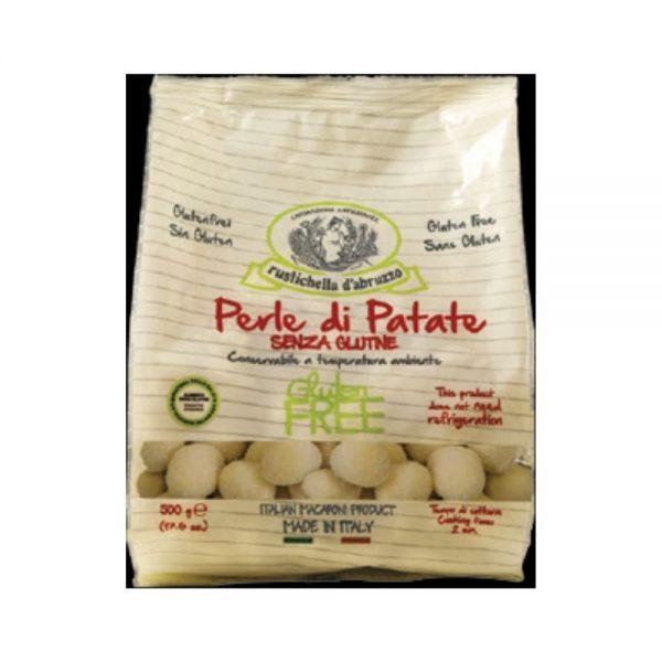 On trouve aussi du bon gluten free dans l'épicerie italienne, des perles de pommes de terre bio par exemple de chez Rustichella d'Abruzzo, identiques aux gnocchi mais glutenfree.