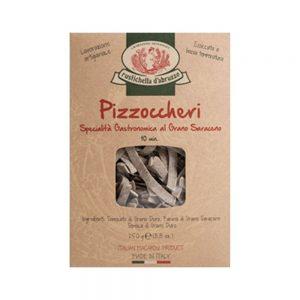 """Les pâtes artisanales de Rustichella d'Abruzzo les pizzoccheri sont une spécialité culinaire italienne, à découvrir chez """"Les Bonnes Pâtes""""."""