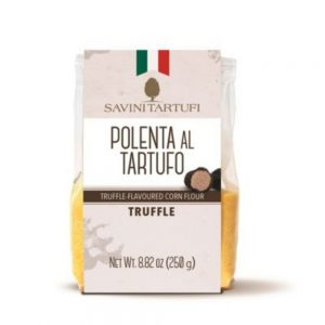 """Une polenta Savini Tartufi savoureuse à base de maïs et de truffe d'été proposée dans l'épicerie italienne """"Les Bonnes Pâtes"""" à Rennes et en ligne."""