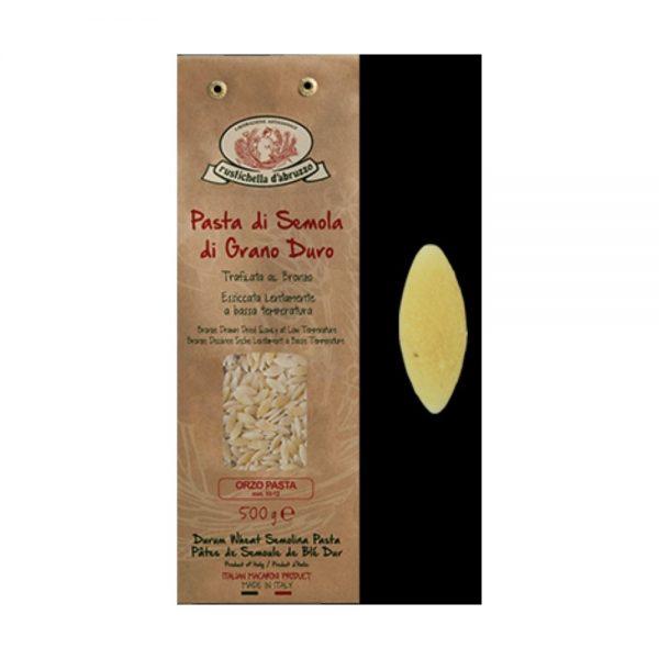 Les pâtes orzo de Rustichella d'Abruzzo dont la forme est en grains d'orge ou de riz est en vente dans la boutique en ligne rennaise Les Bonnes Pâtes.