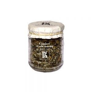 Délicieuses câpres au sel marin de Kazzen, producteur de l'île de Pantelleria.