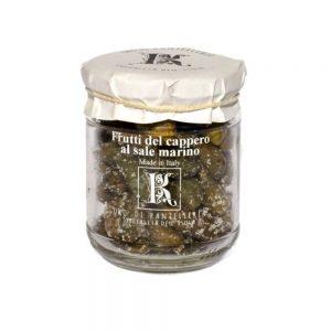 Délicieux câprons au sel marin de Kazzen, producteur de l'île de Pantelleria.
