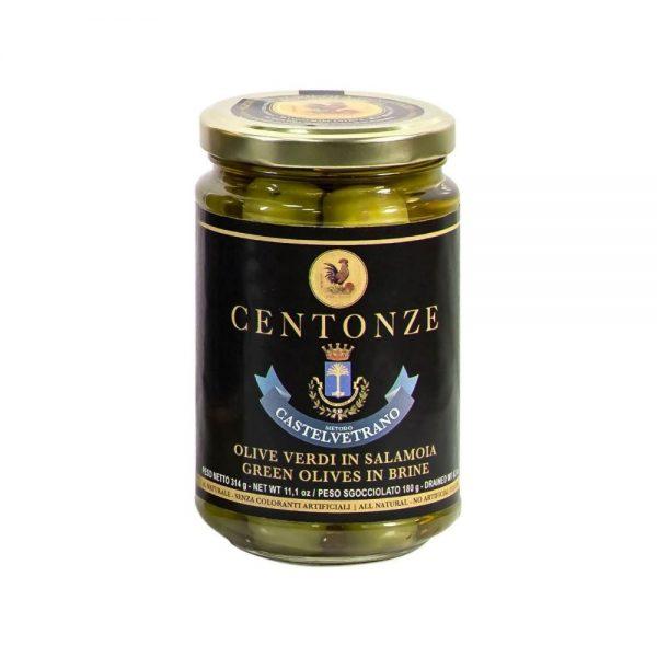 Les olives vertes pour vos salades italiennes à la boutique en ligne Les Bonnes Pâtes.