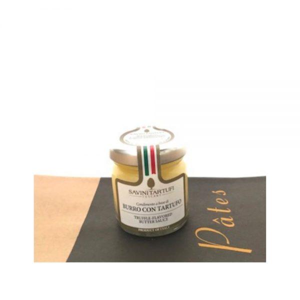 Beurre à la truffe de chez Savini Tartuffi, idéale pour accompagner les bonnes pâtes de la boutique rennaise.