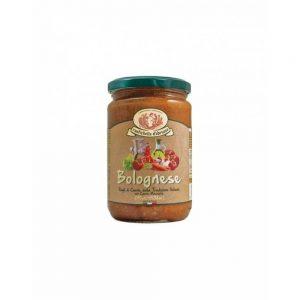 Dans la boutique Les Bonnes Pâtes, on trouve aussi de bonnes sauces issues de recettes traditionnelles italiennes comme la Bolognese.