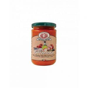 Dans la boutique Les Bonnes Pâtes, on trouve aussi de bonnes sauces issues de recettes traditionnelles italiennes comme la Sauce Puttanesca.