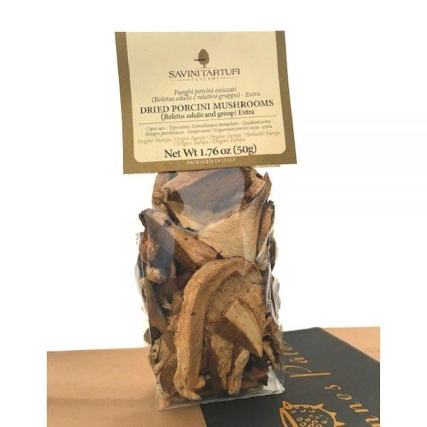 Cèpes séchés de Savini Tartufi pour agrémenter les Bonnes Pâtes et risottos de la boutique rennaise.