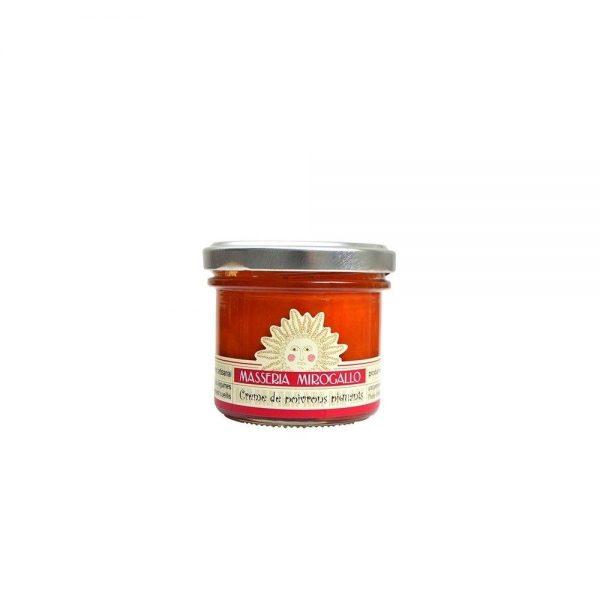 Petit pot de crème de poivrons piquants à tartiner pour l'apéritif italien ou pour relever vos plats.