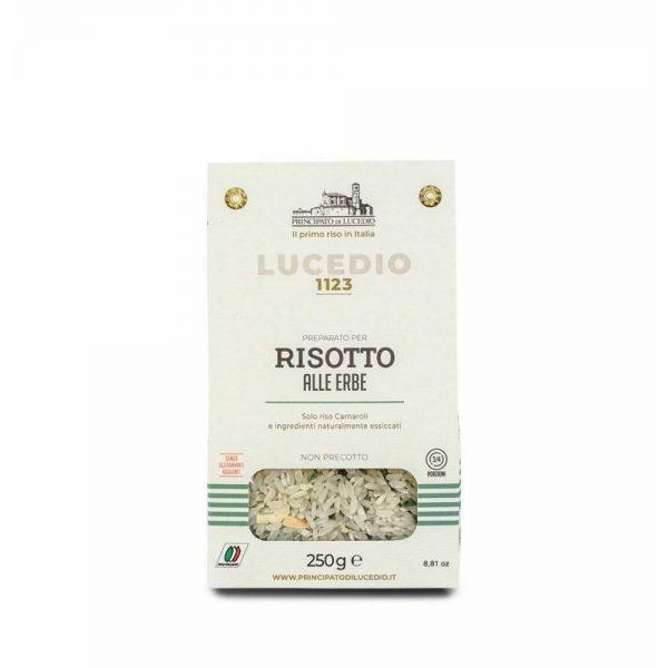 Un délicieux risotto crémeux aux herbes du producteur Lucedio, prêt en 15 minutes, bon comme celui de la mamma italienne!