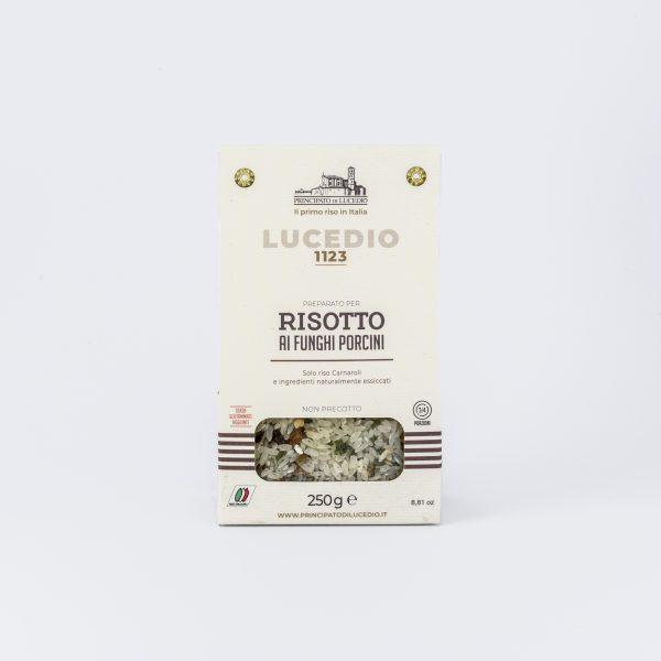 Un délicieux risotto crémeux aux champignons cèpes du producteur Lucedio, prêt en 15 minutes, bon comme celui de la mamma italienne!