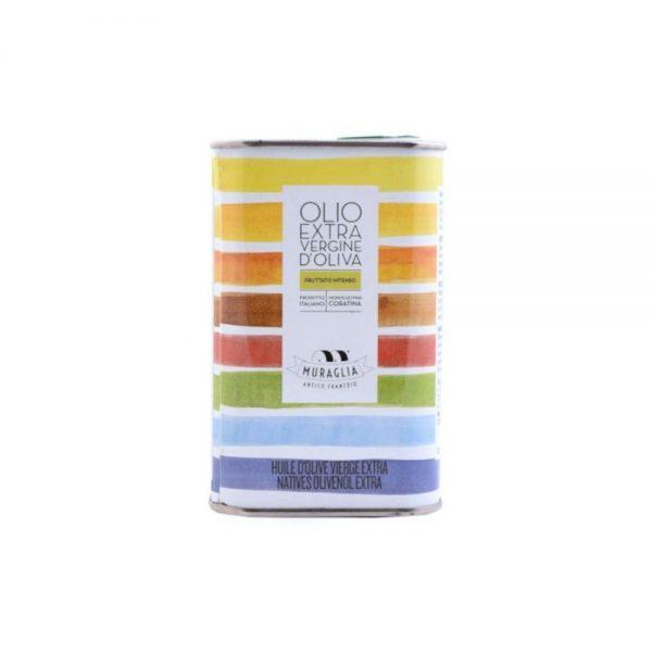 Huile d'olive des Pouilles Muraglia en bidon de 1 litre