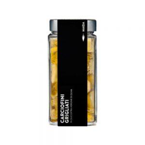 Coeurs d'artichaut grillés dans l'huile d'olives Maïda de Campanie Italie dans la boutique Les Bonnes Pâtes.