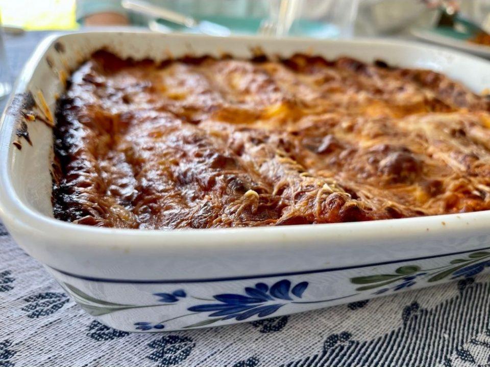 Plat de cannelloni ricotta épinards réalisé avec les pâtes italiennes Setaro de la boutique rennaise.