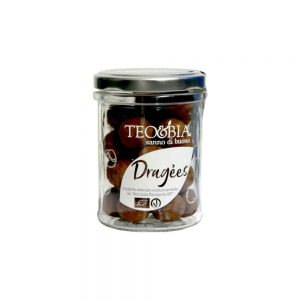 Délicieuses petites noisettes bio du Piémont enrobées de chocolat enfin disponibles à la boutique rennaise.